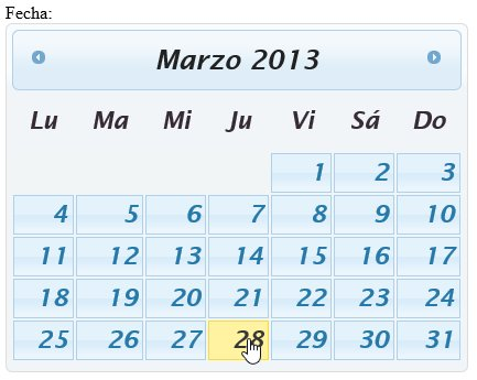 Html Calendario.Seleccionar Cualquier Fecha Del Calendario Un Datepicker