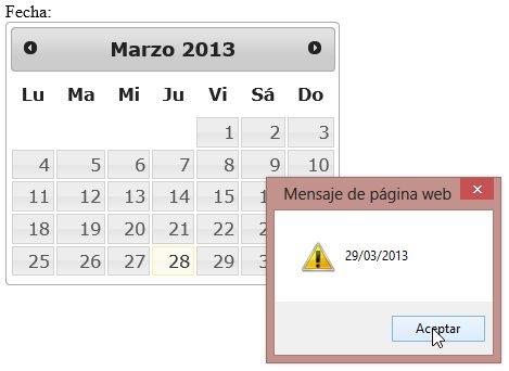 Seleccionar cualquier fecha del calendario: un datepicker