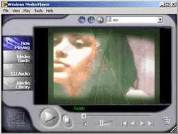 imagen de un reproductor windows media player