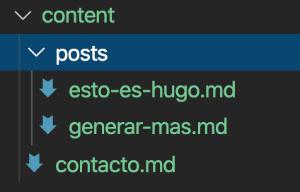 Estructura del directorio content