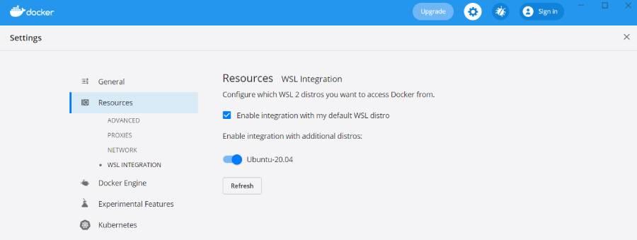 Configuración extra de docker desktop para usuarios windows y wsl2